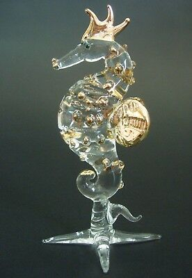 Glass SEAHORSE CURIO Display Glass Animal Beautiful Decorative Ornament Gift