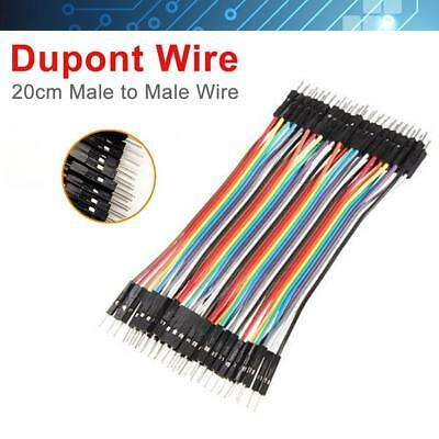 40PCS Dupont wire jumper cables 20cm 2.54MM male to male 1P-1P For Arduino PK