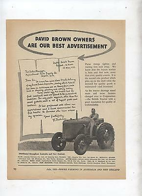 David Brown Tractor Advertisement removed from 1952 Farming Magazine