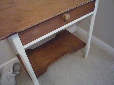 Small Painted  One Drawer Washstand/dressing Table/hall Table