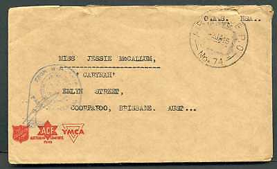 """Australia 1945 """"From HM Ship"""" cover - Air Force PO No 74"""
