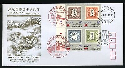 Japan 1981 PHILATOKYO - 2 x First Day Covers (small)