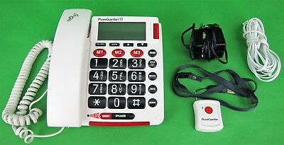 Phone Guardian 110 Emergency Alarm Telephone Phone Hearing Impaired