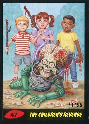 Mars Attacks The Revenge Black [55] Base Card #47 The Children's Revenge