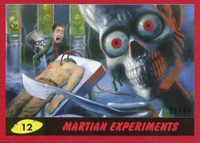 Mars Attacks The Revenge Red [99] Base Card #12 Martian Experiments