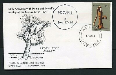 Australia 1974 Hume & Hovell 150th Anniversary - Unaddressed Souvenir Cover