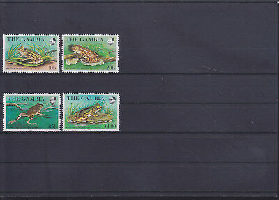 054894 Frösche Frogs Gambia 453-56 ** MNH Year 1982