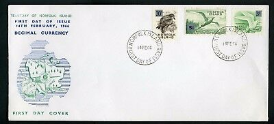 Norfolk Island 1966 3 x Overprints $1 - Unaddressed FDC
