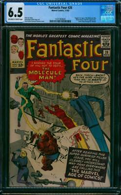 Fantastic Four # 20  Do not Defy the Molecule Man !   CGC 6.5 scarce book !