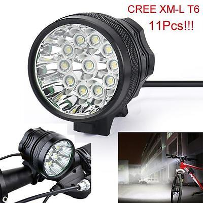 28000 LM 11x CREE XM-L T6 LED Bicycle Bike Light Headlight Cycling Torch Lamp