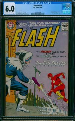 Flash # 114  The Coldest Man on Earth !   CGC 6.0 scarce book !