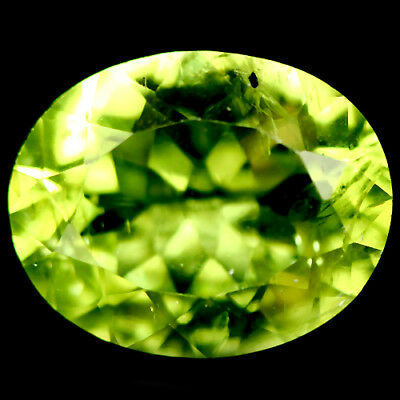 3.15 Ct Natural! Green Pakistan Peridot Oval