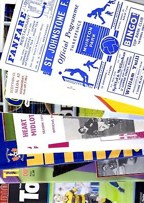 10 x Scottish League Programmes 1968 - 2007 Listed 34