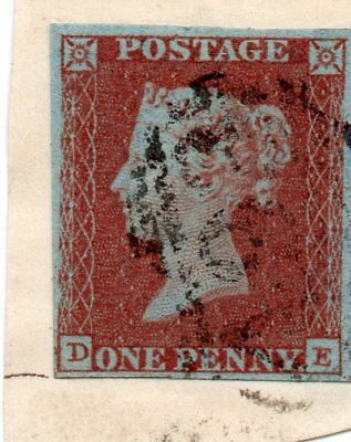 VICTORIA SG8 Id RED IMPERF ON PIECE WITH FOUR MARGINS