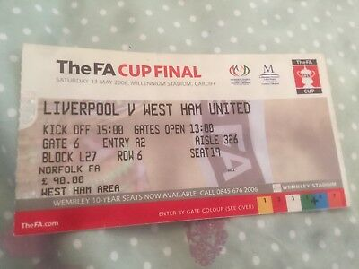 2006 FA Cup Final LIVERPOOL v WEST HAM UNITED *Ex Condition Ticket*