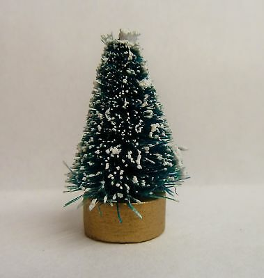 Dolls House Miniatures 12Th Scale * 4 Cm Snowy Christmas Tree * Combined P+P New