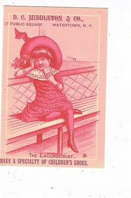 VICTORIAN ADVERTISING / TRADE Card   D. C. MIDDLETON & CO. - WATERTOWN, NEW YORK