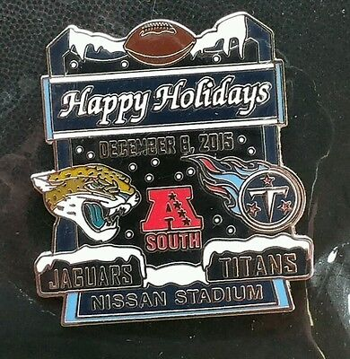 JACKSONVILLE JAGUARS vs TENNESSEE TITANS  GAME DAY LAPEL PIN 12/8/15 HOLIDAY PIN