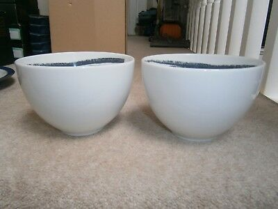 2 x STYLISH DENBY URBAN NOODLE BOWLS SET IN EXCELLENT BARELY USED CONDITION
