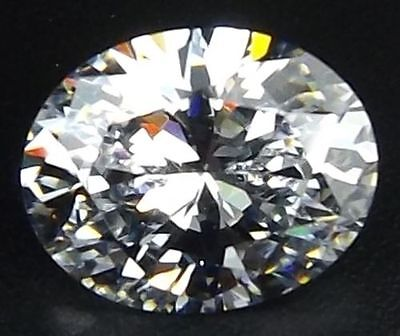 LARGE 18x13mm OVAL-FACET ICE-WHITE CUBIC ZIRCONIA GEMSTONE