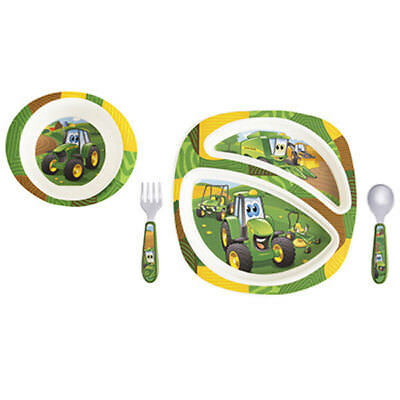 John Deere 4 Piece Dish Set For Kids # Lp64811