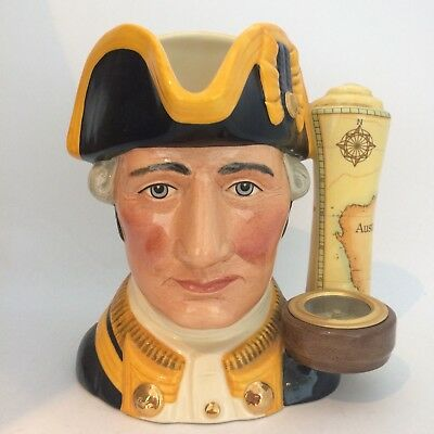 Royal Doulton Captain James Cook Large Character Jug D7077