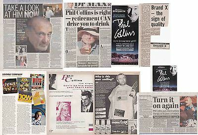 PHIL COLLINS : CUTTINGS COLLECTION -adverts interview-