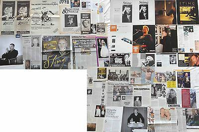 STING : CUTTINGS COLLECTION -interviews adverts etc-