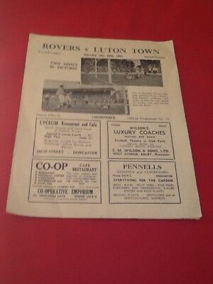 Doncaster Rovers  V  Luton Town  1951-1952