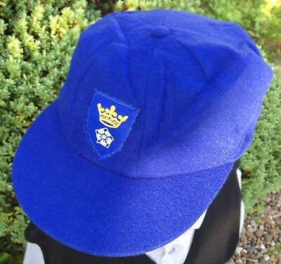 Vintage Blue Bukta Sportswear Cap - Embroidery Badge - Size Large