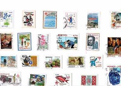 A  Fresh New Selection Of Commemorative Kiloware Stamps From Monaco