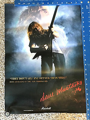 Dave Mustaine Marshall Amps Megadeath Poster Store Promo Ad Display