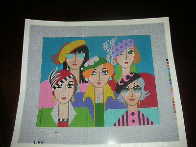 New Handpainted Needlepoint Canvas Lee Five Ladies