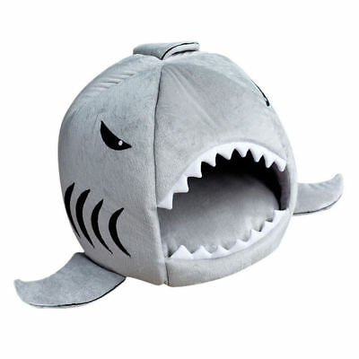 shark mouth Pet Dog Cat Kennels Warm Indoor Kitten Puppy Sofa Bed Washable gift