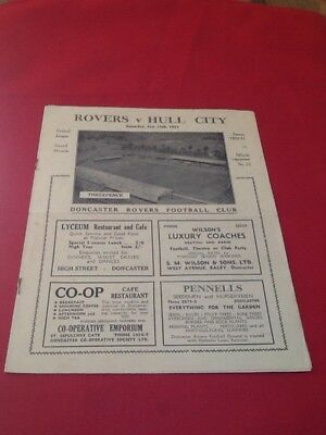 Doncaster Rovers  V  Hull City  1950-1951