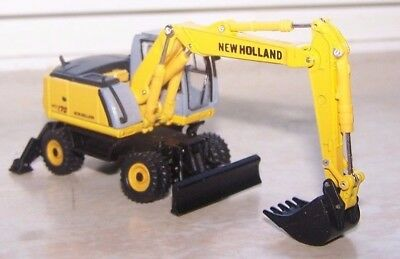 HOBBY & WORK,NEW HOLLAND,Excavator,Diecast ,Scale1:87,Loose