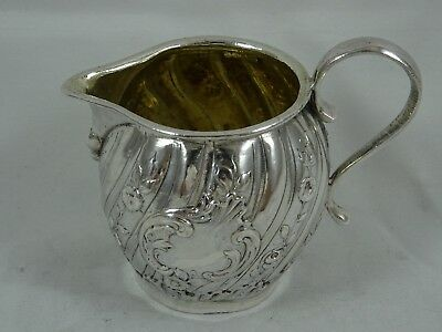 PRETTY, VICTORIAN silver MILK JUG, 1900, 53gm