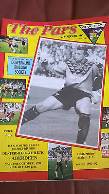 Dunfermline Athletic v Aberdeen 19/10/91