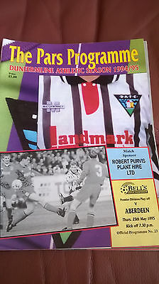 Dunfermline Athletic v Aberdeen 1094/95 Play Offs!