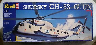Revell #4498, 1:48th Scale, Sikorsky CH-53 G UN Helicopter Plastic Kits, RD JG