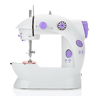 New Portable Compact Electric Sewing Machine Stitch Mini Foot Pedal Carry Case