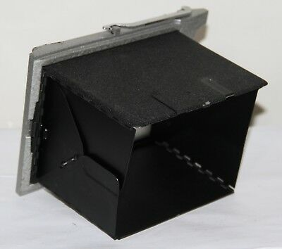Burke & James 4x5 Graflok Back Ground Glass Holder & Graflex Viewing Hood