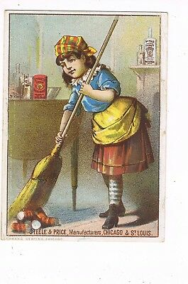 VICTORIAN ADVERTISING / TRADE Card  STEELE & PRICE - CHICAGO AND ST. LOUIS