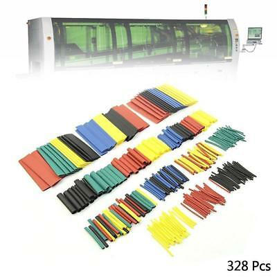 Hot 328Pcs 5 Colors 2:1 Heat Shrink Tubing Tube Sleeving Wire Cable Wrap Kit B1
