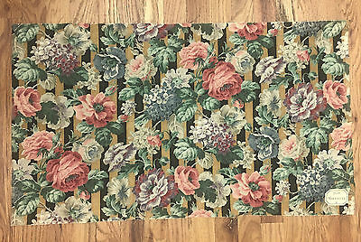 Antique Lovely Late 19th/Early 20th C.French Floral Linen Printed Fabric (7842)