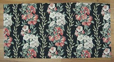 Beautiful 1930's American Cotton Tropical Floral Fabric  (9972)