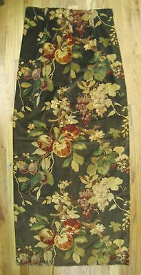 Beautiful 1930's. French Velvet Drape with Fruits print   (9985)