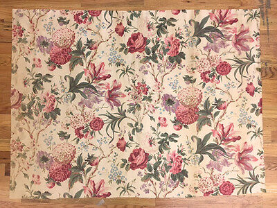 Beautiful Vintage 1930's French Floral Cotton Print Fabric (2018)