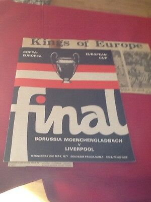 Liverpool V Bmg 1977 European Cup Final Original