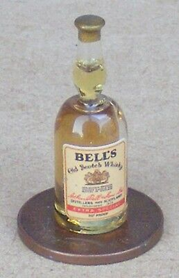 1:12 Scale Dolls House Glass Bottle With A Bells Whisky Label Pub Bar Accessory